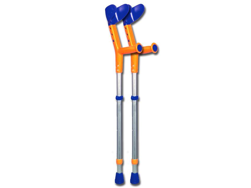 TIKI cârje - albastru / portocaliu