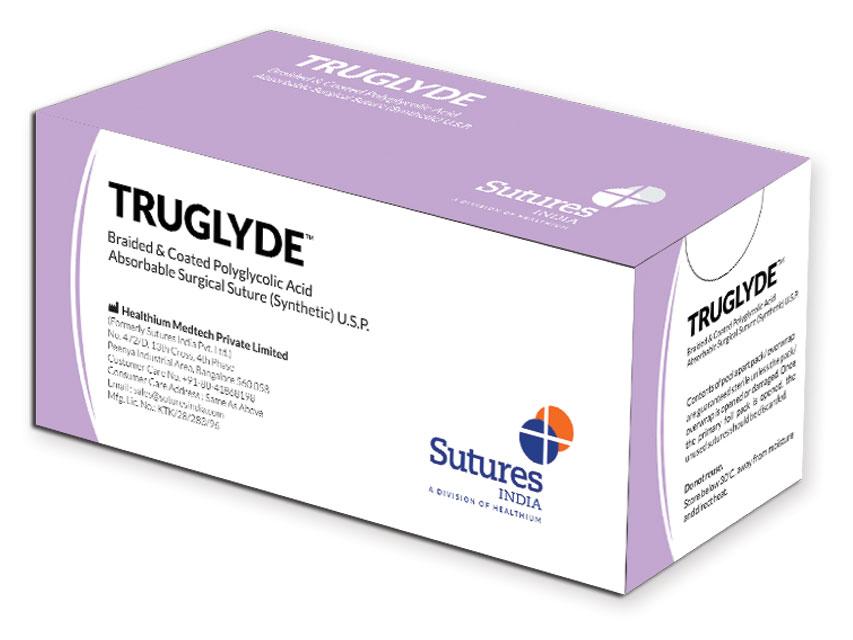 TRUGLYDE - Fir de sutură absorbabil2/0 cerc 3/8 ac 24mm - 70cm - violet