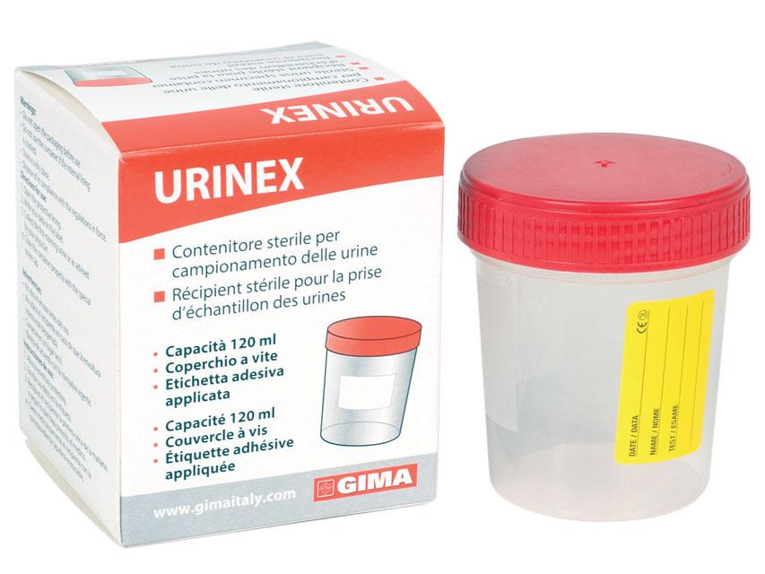 URINA CONTAINER 120 ml într-o cutie unică - sterile