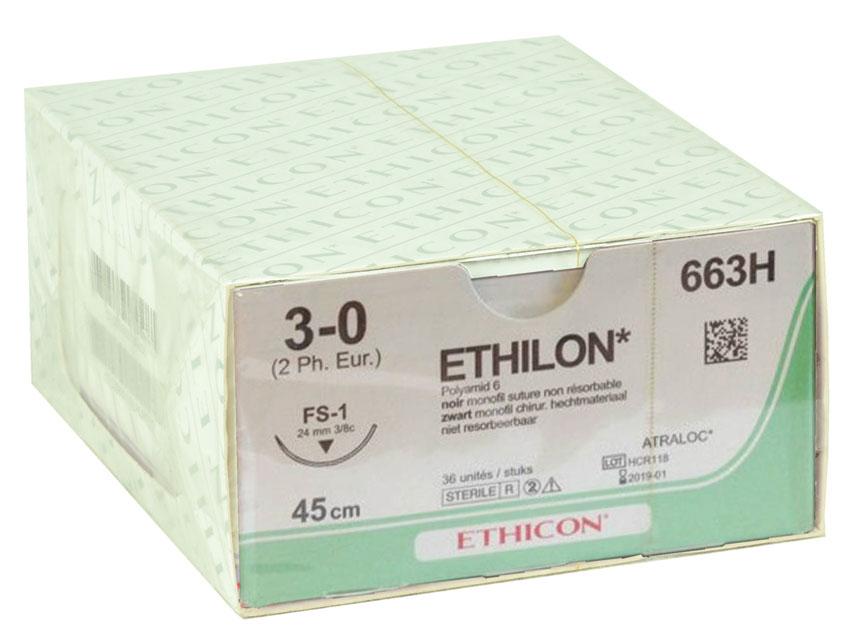 Fir de sutura ETHICON - ecartament 3/0 ac 24 mm