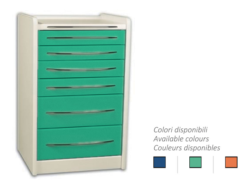MOBILE UNIT GE419 6 sertare 49 cm - orice culoare