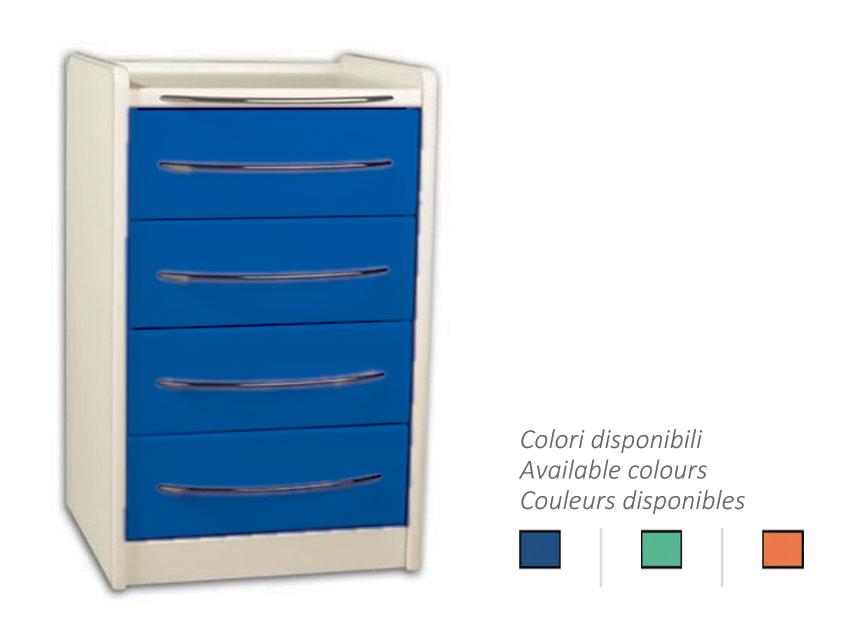 MOBILE UNIT GE416 4 sertare 49 cm - orice culoare