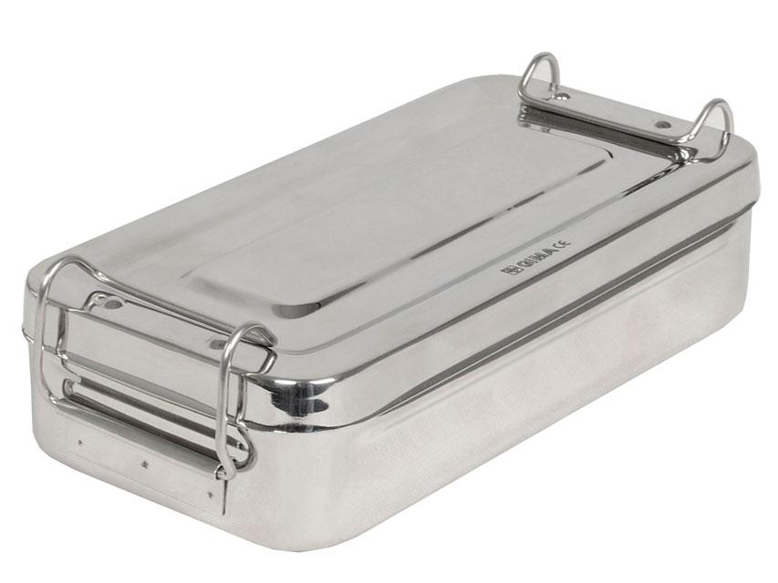 Cutie instrumentar, otel inoxidabil - 20x10x4.5 cm - mâner