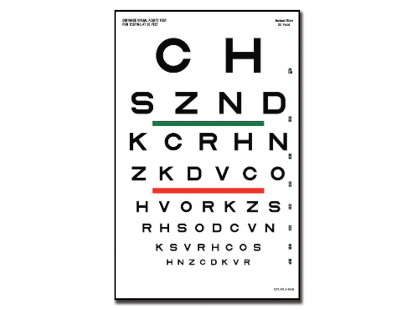 SLOAN Optometric DIAGRAMA - 6 m 23x35.5 cm