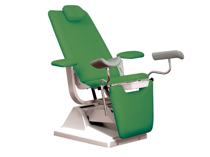 Gynex SCAUN ginecologic-pat cu suport rola - verde