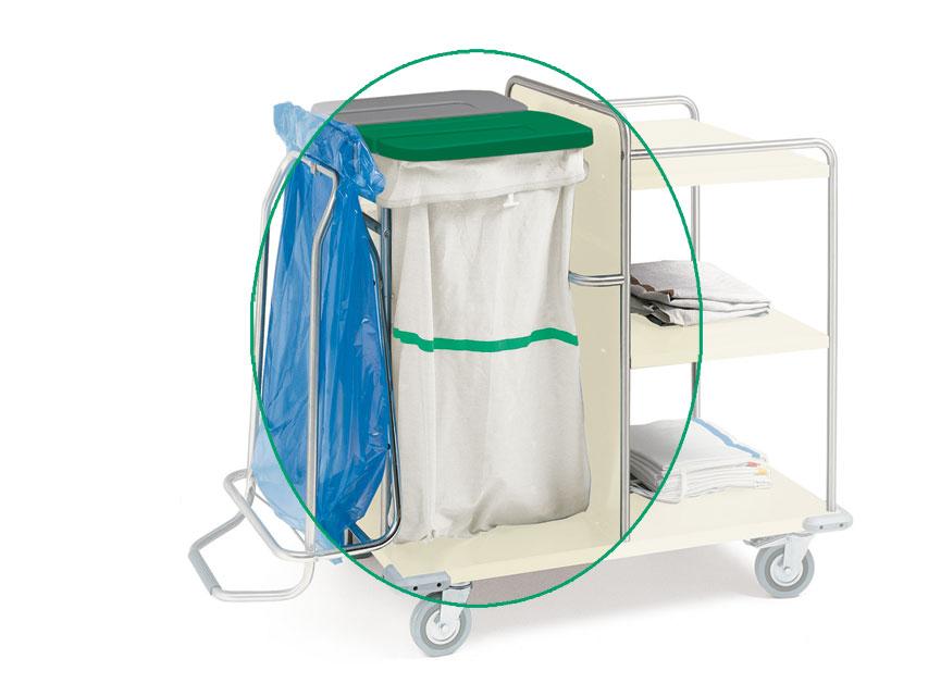 ÎMpacientARE borseta - lavabile - benzi verde
