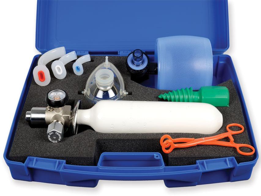 SPEED-1 PRIMUL AJUTOR BORSETA cu cilindru UNI - resuscitator autoclavabile