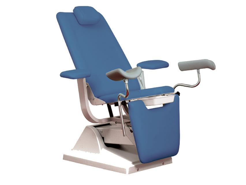 Gynex SCAUN ginecologic-pat cu suport rola - albastru deschis
