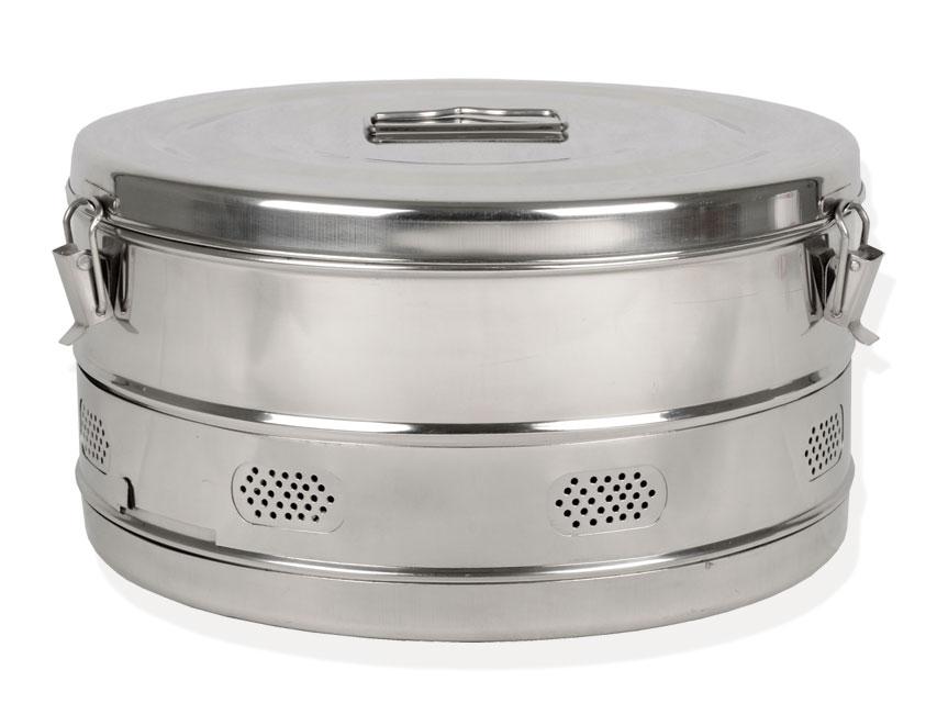 Casoleta rotunda, otel inoxidabil 340xh180 mm