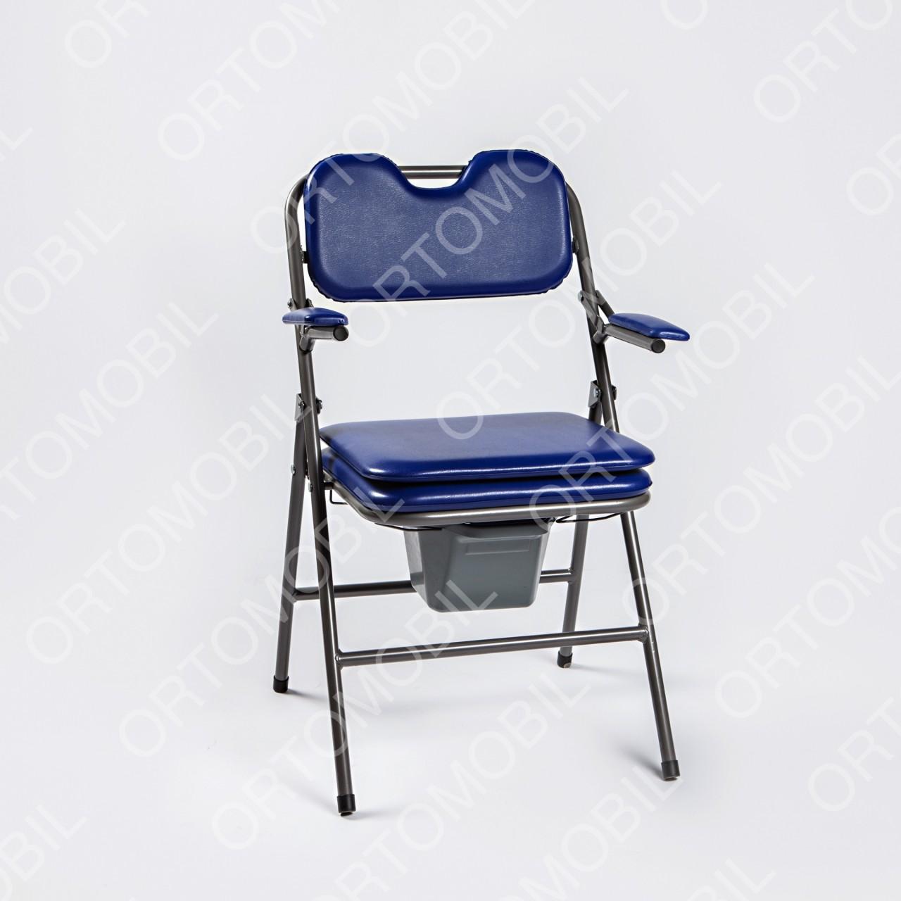 Scaun toaleta pliabil cu sezut moale Ortomobil 047410