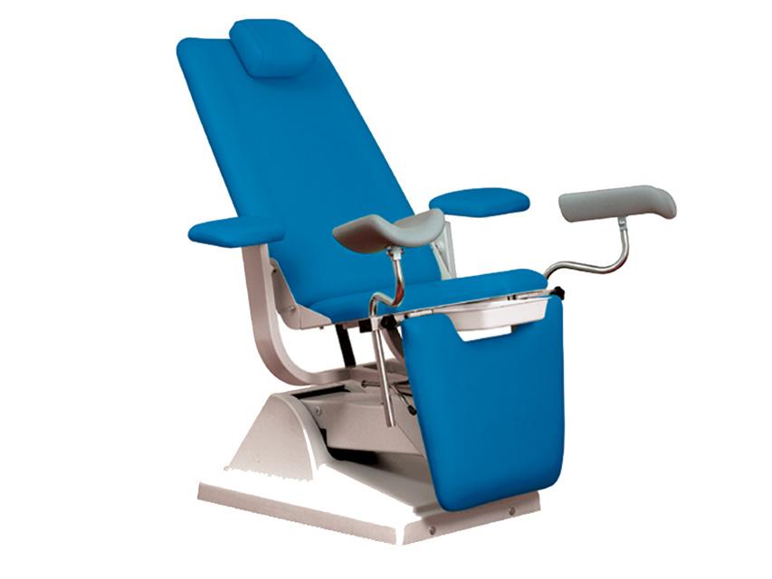 Gynex SCAUN ginecologic-pat cu suport rola - albastru mare de metal
