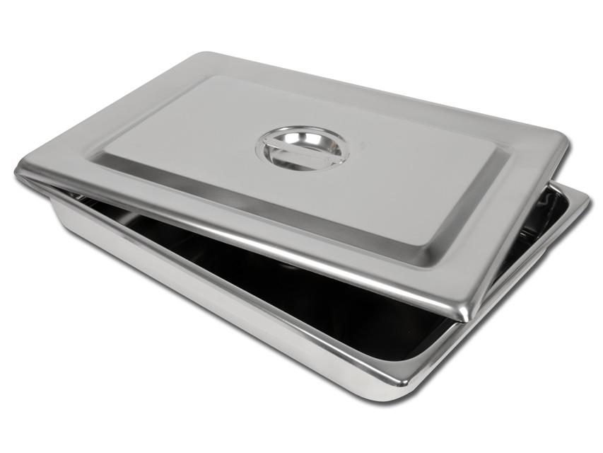 Tava intrumentar  cu capac  , otel inoxidabil - 440x320X64 mm