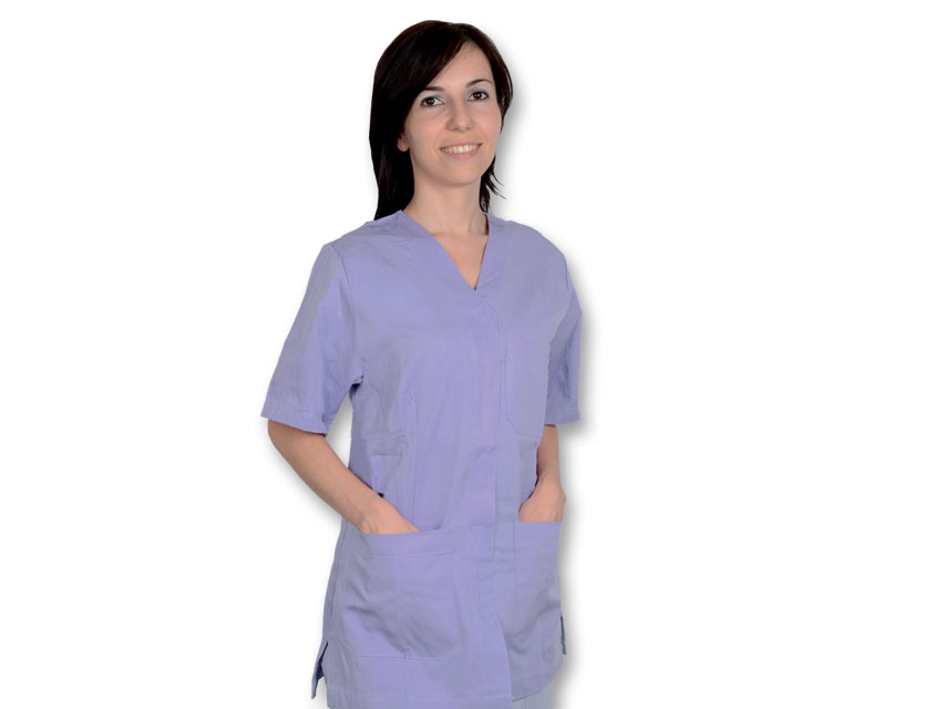 Tunica costum chirurgical - bumbac / poliester - XXL femeie violet