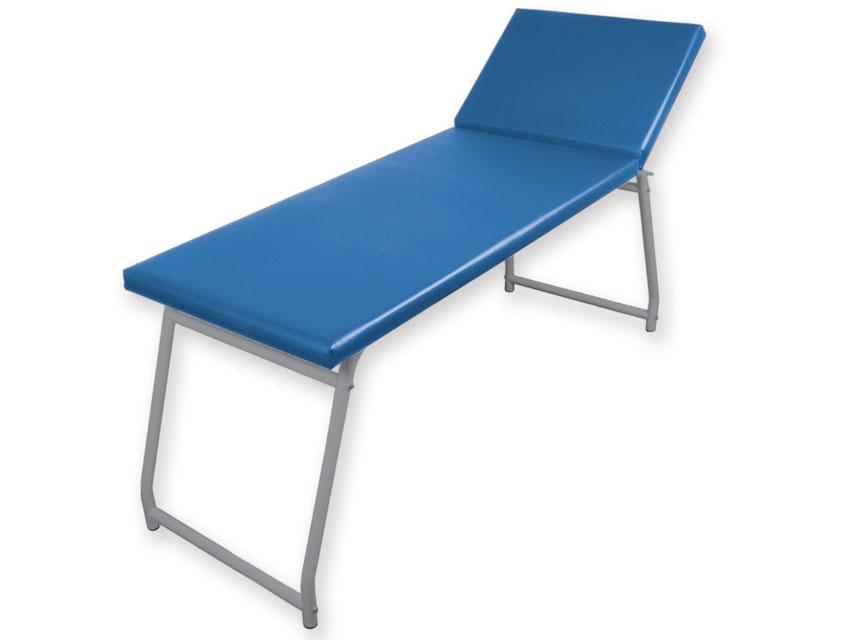 Canapea examinare - cromată, saltea albastru
