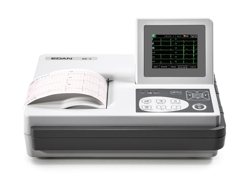 Edan SE-3 COLOR ECG - 3 canale cu monitor și interpretare