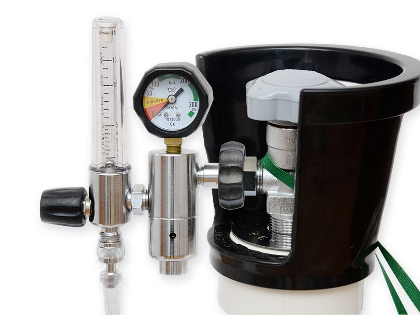 Reductor de presiune cu debitmetru și humidif. - BRITISH STD.
