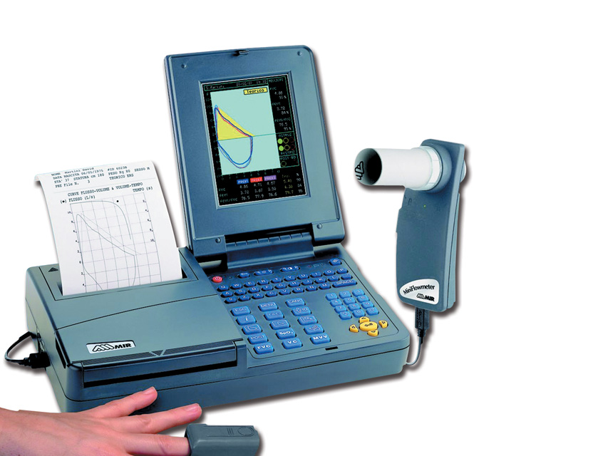 Spirolab III DIAGNOSTIC COLOR SPIROMETRU cu imprimantă și software-ul