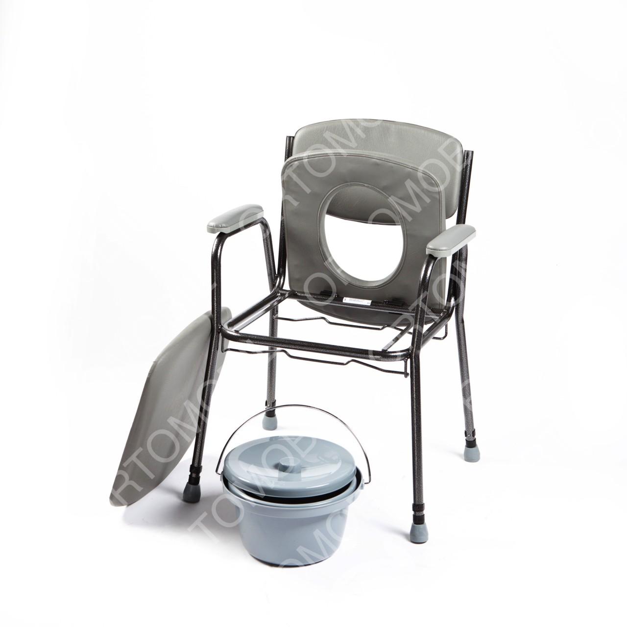 Scaun toaleta sezut moale, inaltime reglabila Ortomobil 047400