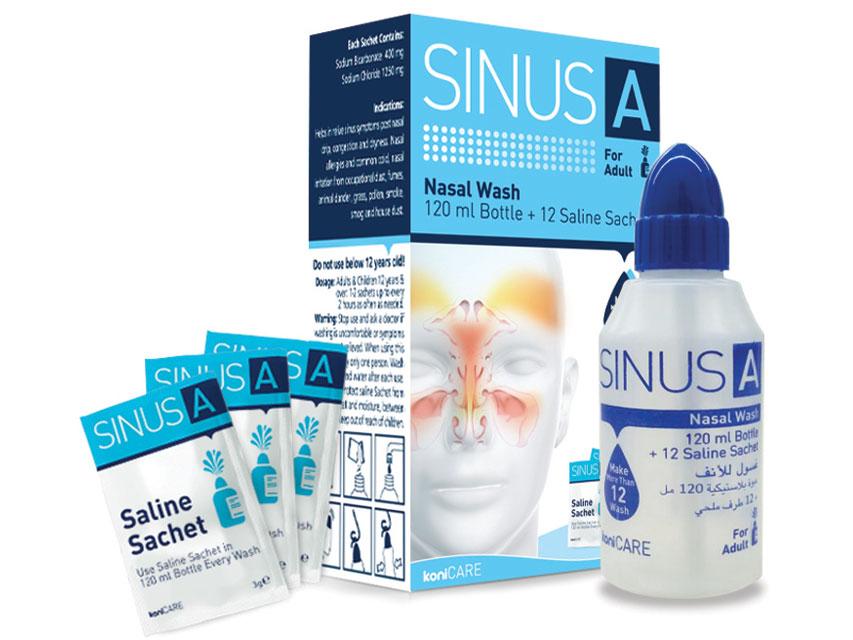 SINUS A NASAL SPALARE pliculețe 120 ml + 12 saline adult
