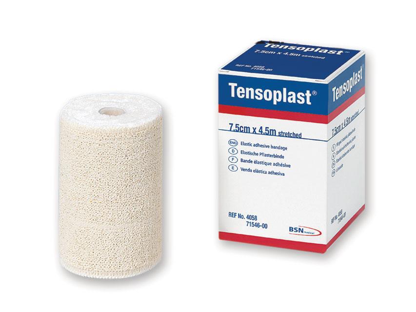 TENSOPLAST ELASTIC ADEZIV bandajele 4,5 m x 7,5 cm