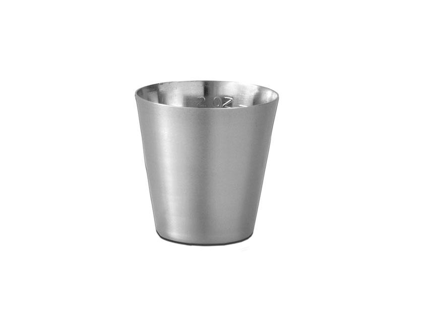 Cupa conica, otel inoxidabil 60 ml - gradat