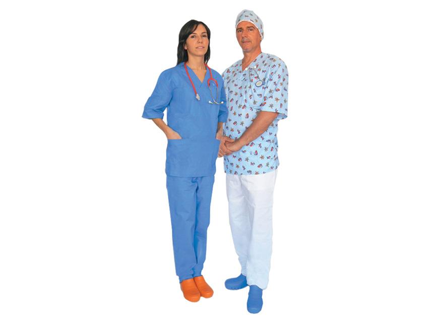 FANTASY Bluza doctor - bumbac albastru deschis - X-MARE