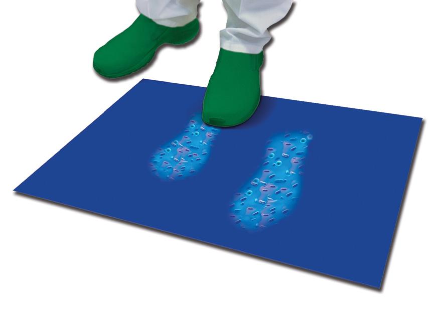 Covor antibacterian 45x115 cm - 30 straturi - alb
