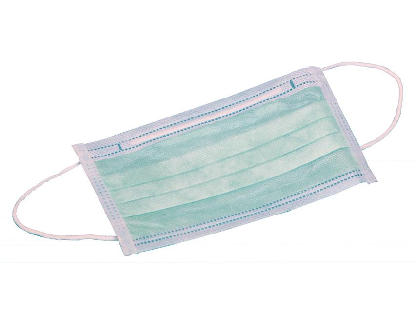 95% Masca chirurgicala cu 3 pliuri, filtrare 99 % - verde cu bucle