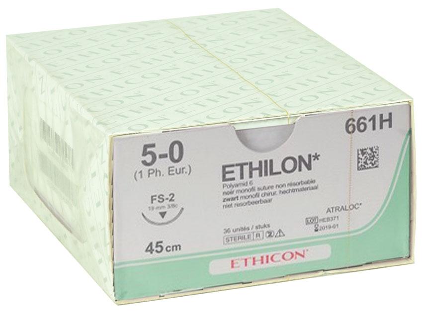 Fir de sutura ETHICON - ecartament 5/0 ac 19 mm