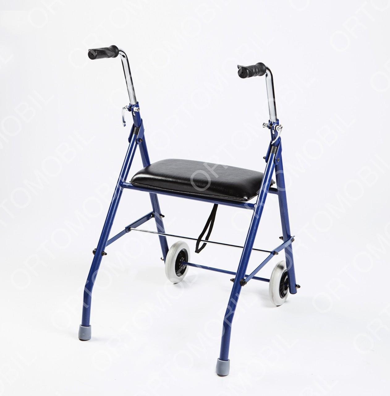 Cadru de mers pliabil cu roti si scaun Ortomobil 013511