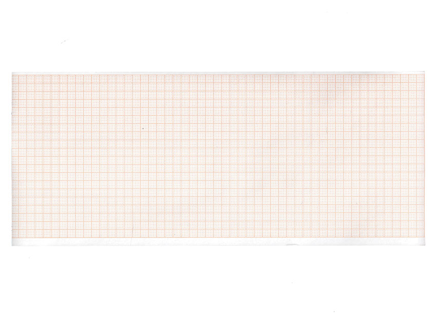 ECG termică hârtie 107x25 mm x m rola - grila portocalie
