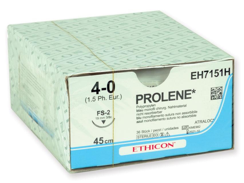 ETHICON prolenă BLUE monofilamentele Fir de sutura - gauge 4/0 ac 19 mm sutură 75 cm