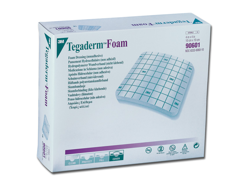 3M™ Tegaderm™Pansament SPUMĂ 10x10 cm  - non adeziv