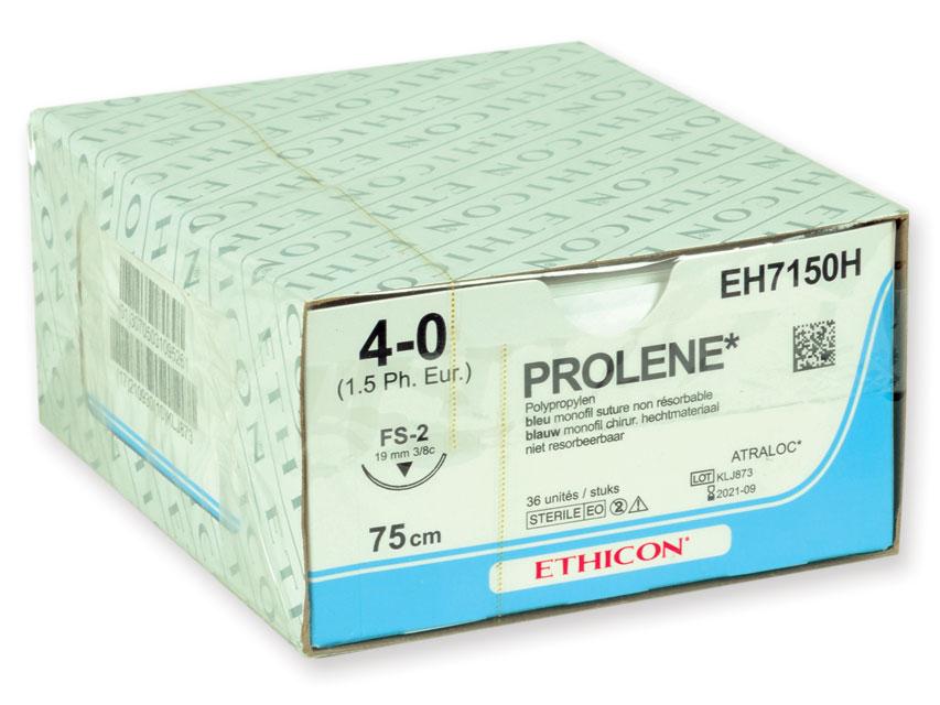 ETHICON prolenă BLUE monofilamentele Fir de sutura - gauge 4/0 ac 19 mm sutură 45 cm