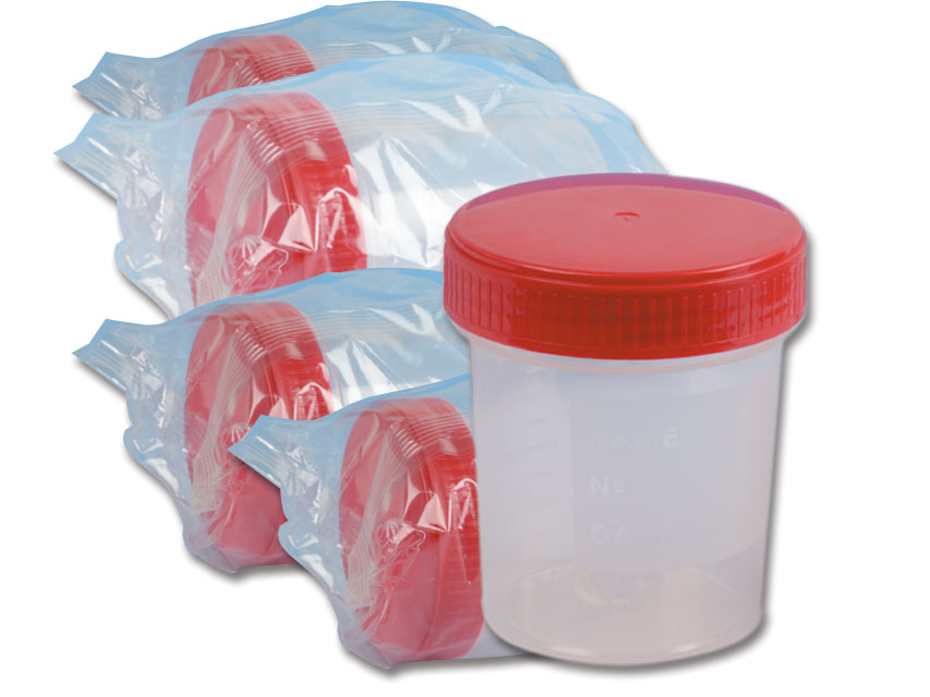 URINA CONTAINER 120 ml - cleanroom ISO 8