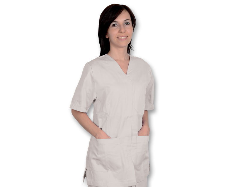 Tunica costum chirurgical - bumbac / poliester - Unisex S alb