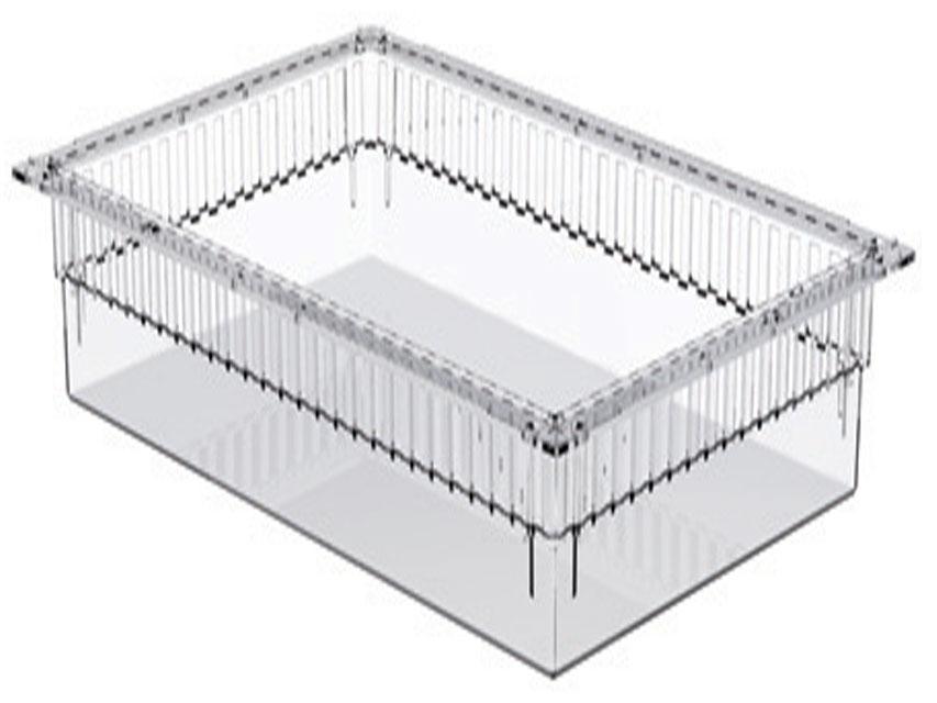 SERTAR PLASTIC TRANSPARENT ISO 600x400x200 mm - deschis