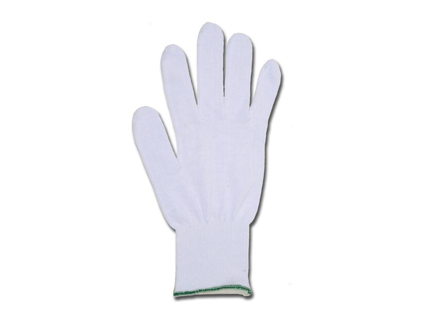 Mănuși de bumbac dimensiune 8.5 - alb