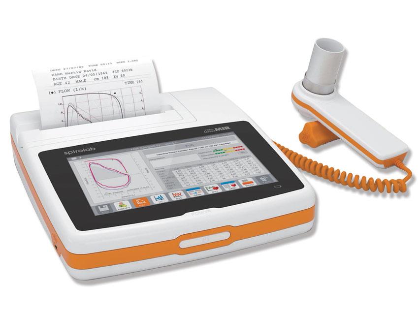 Spirolab COLOR SPIROMETRU cu 7 touchscreen, imprimantă și software-ul