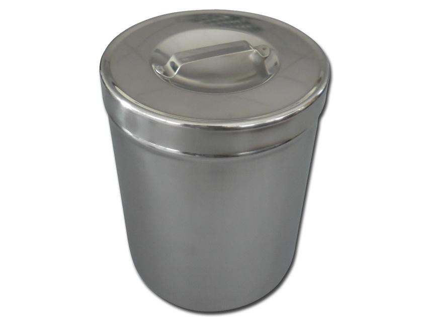 Casoleta pansament, otel inoxidabil 2 l cu capac   - diam.127x162 mm