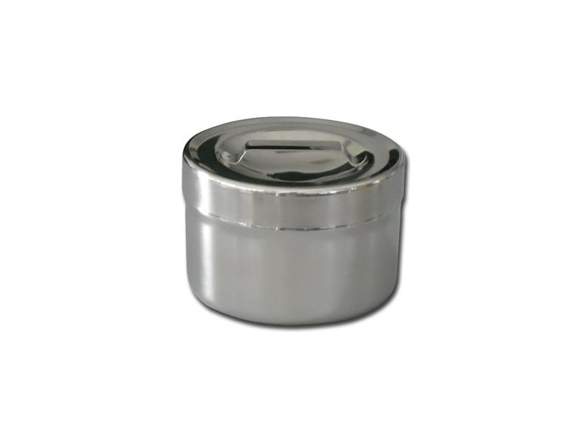 Casoleta pansament, otel inoxidabil 0,5 l cu capac   - diam.106x66 mm