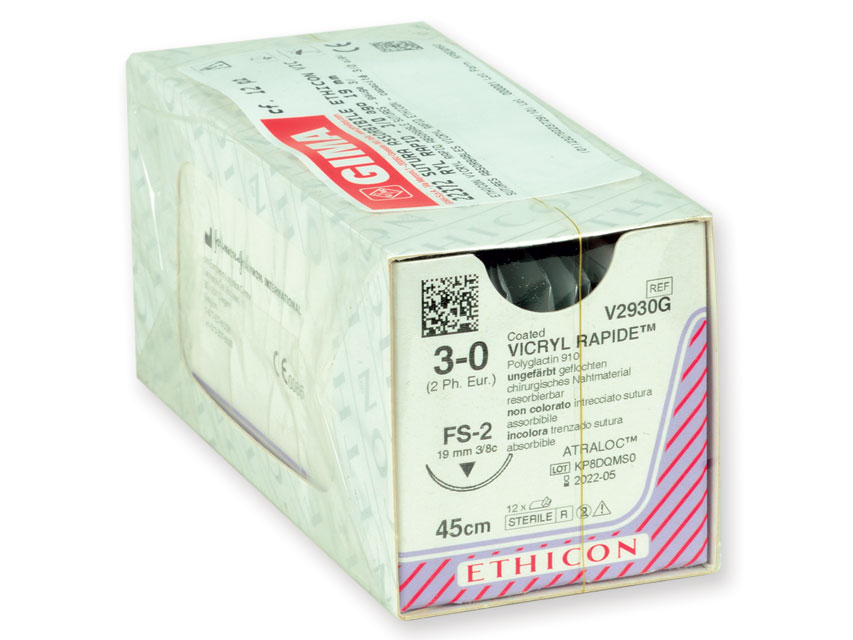 ETHICON vicryl RAPID absorbabil Fir de sutura - calibru 3/0 ac 19 mm - împletite