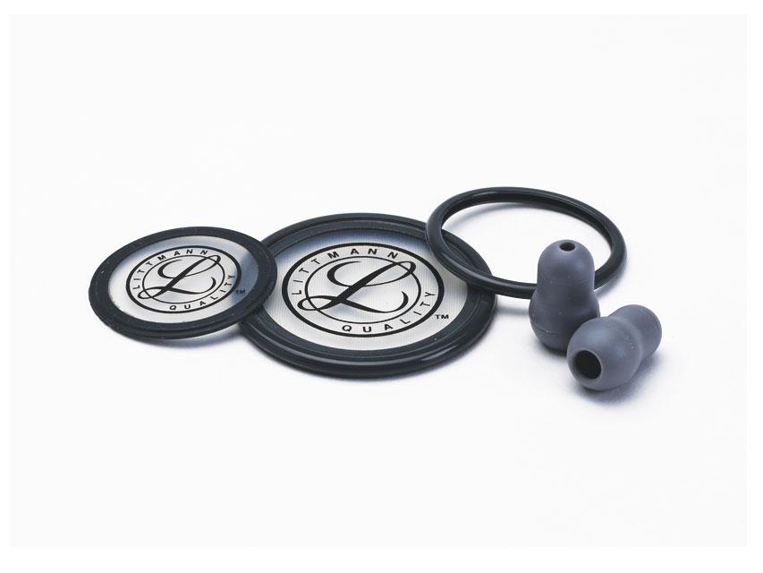 STETOSCOP LITTMANN  KIT 40004: 2 DIAFRAGME + 2 RIMS + BELL SLEEVE + auriculare pentru Cardiologie III - gri - blister