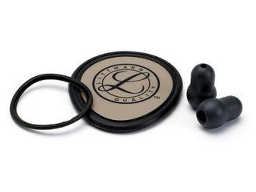 STETOSCOP LITTMANN  KIT 40020: DIAFRAGMĂ + RIM + BELL MÂNECĂ + olive auriculare pentru Ușoare - negru - blister