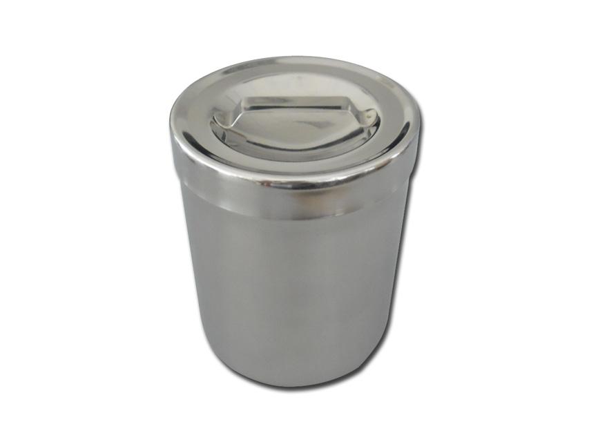 Casoleta pansament, otel inoxidabil 1 l cu capac   - diam.103x128 mm
