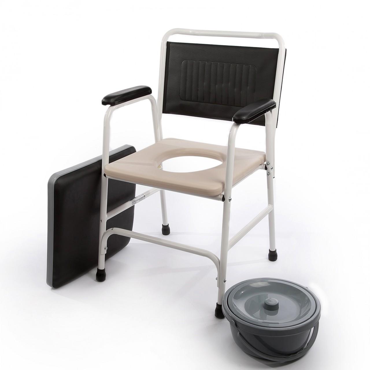 Scaun toaleta de camera cu sezut moale Ortomobil 027020