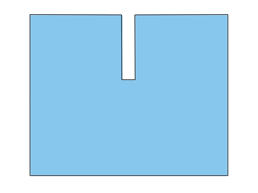 Camp chirurgical in forma de U  cu adeziv 200x240 cm - sterile