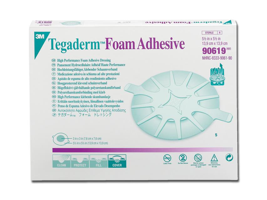 3M™ Tegaderm™Pansament SPUMĂ 14x14 cm - adeziv