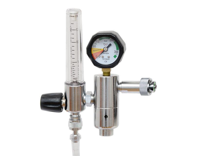 Reductor de presiune cu debitmetru și humidif. - DIN