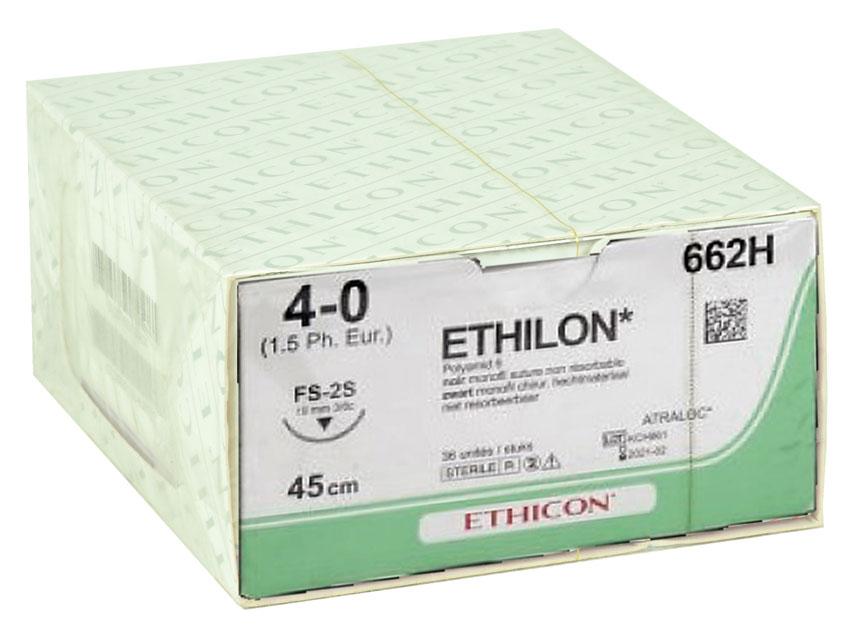 Fir de sutura ETHICON - ecartament 4/0 ac 19 mm